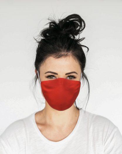 Mascherina Maskis Tessuto Rosso Donna