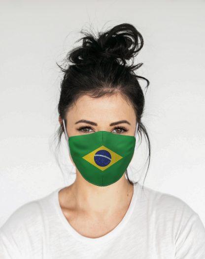 Mascherina Maskis Bandiera Brasile Donna