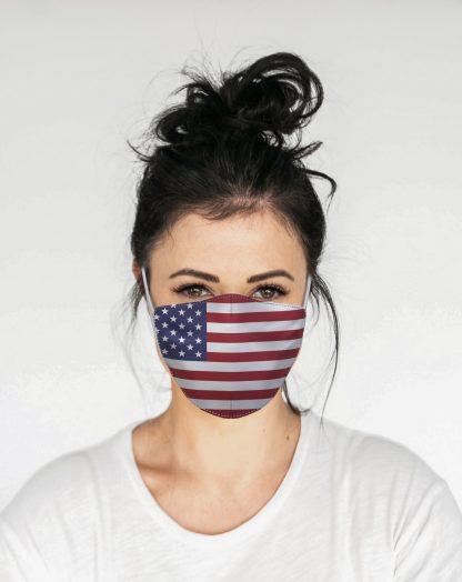 Mascherina Maskis Bandiera Usa Donna