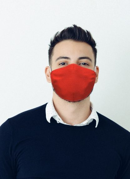 Mascherina Maskis Tessuto Rosso Uomo