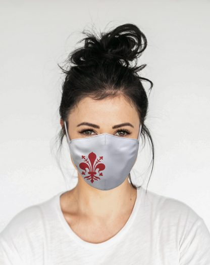 Mascherina Maskis Fiorentina Bianca Donna
