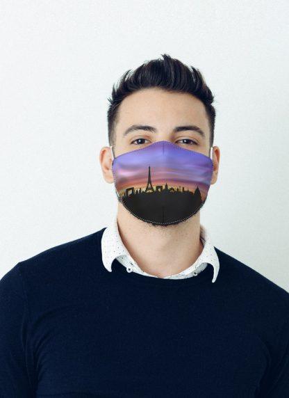 Mascherina Maskis Skyline Parigi Uomo