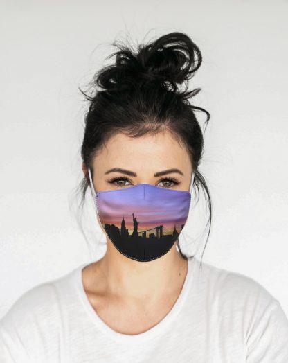 Mascherina Maskis Skyline New York Donna