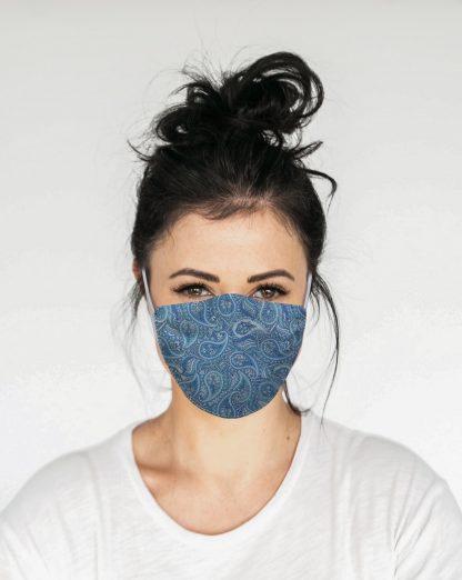 Mascherina Maskis Paisley Blu Donna