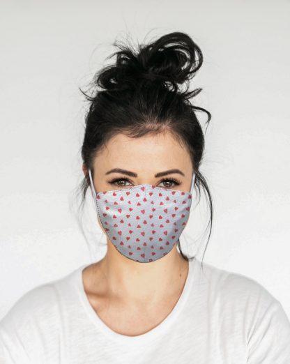 Mascherina Maskis Cuoricini Donna
